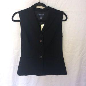 NWT Ann Taylor Black Vest